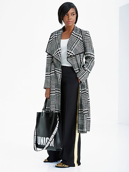 Gabrielle Union Collection - Houndstooth Wool-Blend Coat - New York & Company