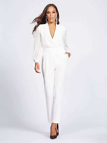 Gabrielle Union Collection - Ivory Wrap Jumpsuit - New York & Company