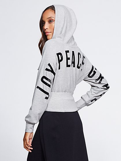 "Gabrielle Union Collection - ""Joy Peace Grace"" Sweatshirt - New York & Company"