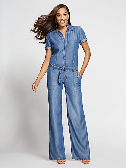 Gabrielle Union Collection - Jumpsuit - Blue Jewel Wash - New York & Company