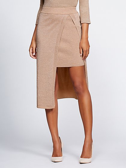 Gabrielle Union Collection - Metallic Sweater Pencil Skirt - New York & Company