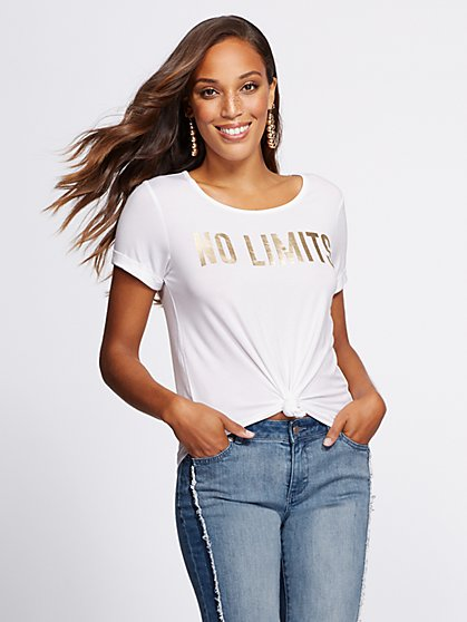 "Gabrielle Union Collection - ""No Limits"" Graphic Tee - New York & Company"