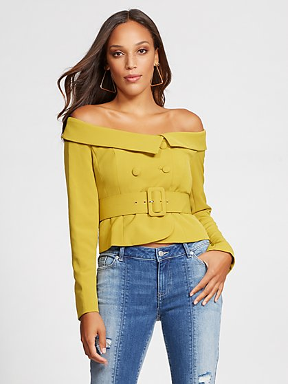 Gabrielle Union Collection - Off-The-Shoulder Jacket - New York & Company