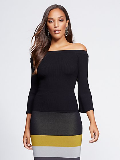 Gabrielle Union Collection - Off-The-Shoulder Sweater - New York & Company