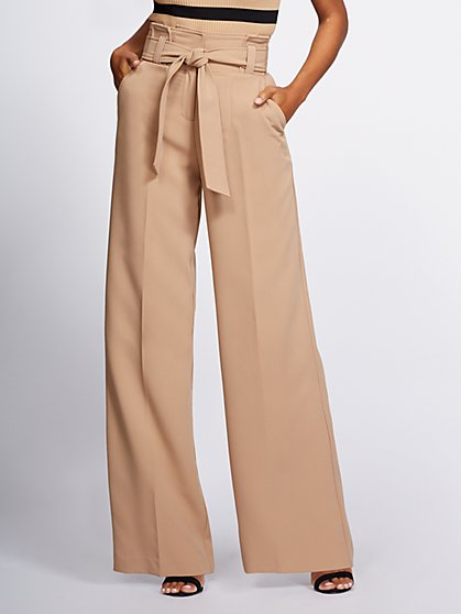 Gabrielle Union Collection - Paperbag-Waist Wide-Leg Pant - New York & Company