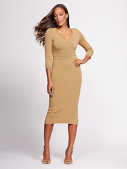 Gabrielle Union Collection - Petite V-Neck Sweater Dress - New York & Company