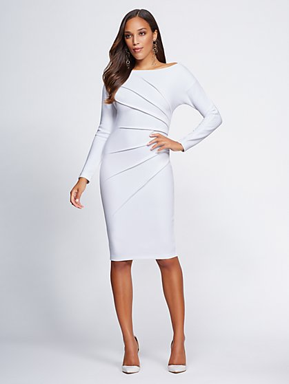 Gabrielle Union Collection - Pleated Sheath Dress - New York & Company
