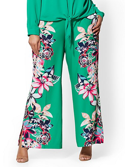 Gabrielle Union Collection - Plus Floral Palazzo Pant - New York & Company