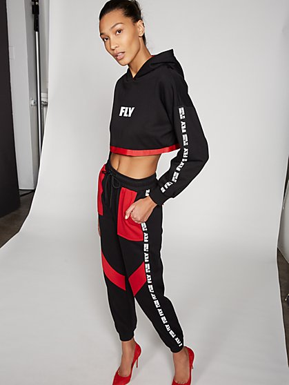 Gabrielle Union Collection - Red & Black Sweatpant - New York & Company