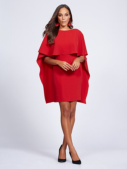 Gabrielle Union Collection - Red Cape Dress - New York & Company