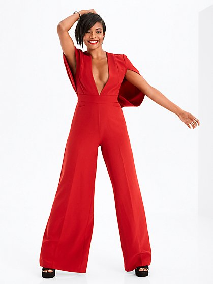 Gabrielle Union Collection - Red Cape Jumpsuit - New York & Company