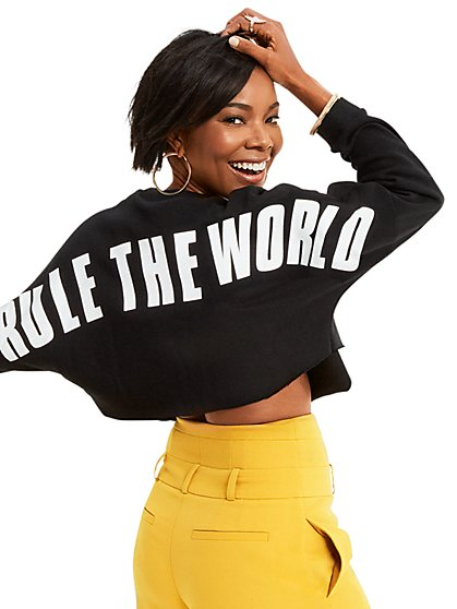 "Gabrielle Union Collection - ""Rule the World"" Sweater - New York & Company"