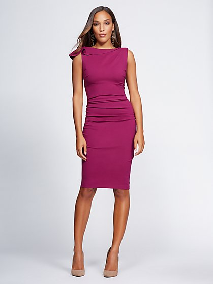 Gabrielle Union Collection Shirred Sheath Dress New York Company