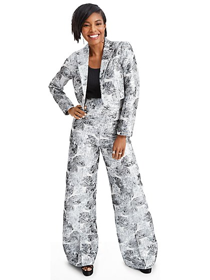 Gabrielle Union Collection - Silvertone Floral Jacquard Blazer - New York & Company