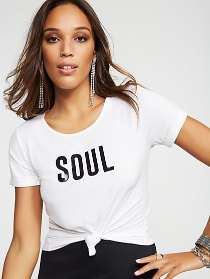 "Gabrielle Union Collection - ""Soul"" Graphic Tee - New York & Company"