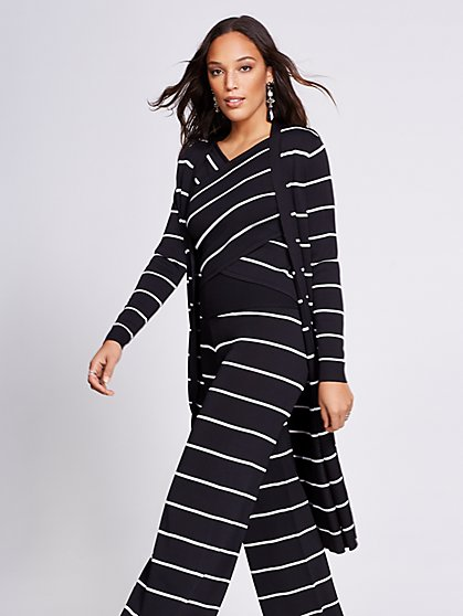 Gabrielle Union Collection - Stripe Duster Cardigan - New York & Company