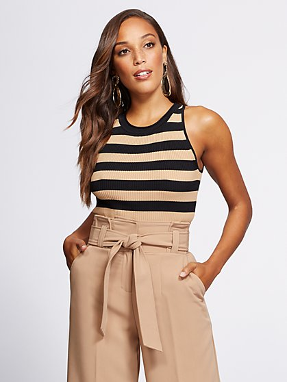 Gabrielle Union Collection - Stripe Sweater Tank Top - New York & Company