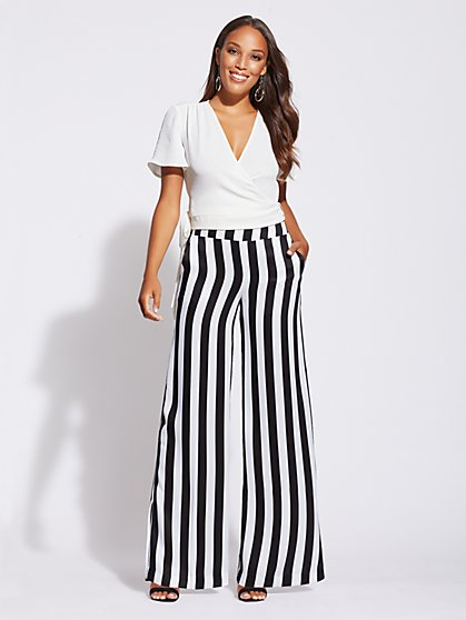 Gabrielle Union Collection - Striped Palazzo Pant - New York & Company