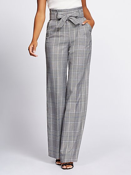Gabrielle Union Collection - Tall Plaid Wide-Leg Pant - New York & Company