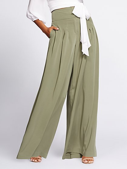 Gabrielle Union Collection - Tall Pleated Wide-Leg Pant - New York & Company