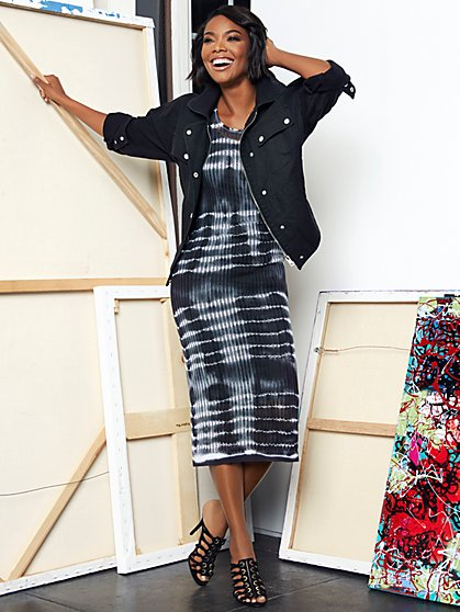 Gabrielle Union Collection - Tie-Dye Sweater Dress - New York & Company