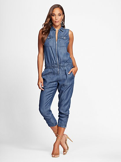 Gabrielle Union Collection - Ultra-Soft Chambray Jumpsuit - New York & Company