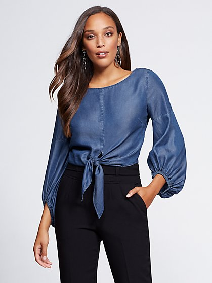 Gabrielle Union Collection - Ultra-Soft Chambray Shirt - New York & Company