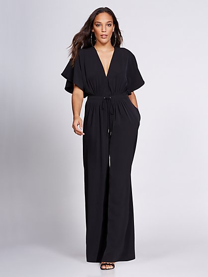 Gabrielle Union Collection - V-Neck Jumpsuit - New York & Company