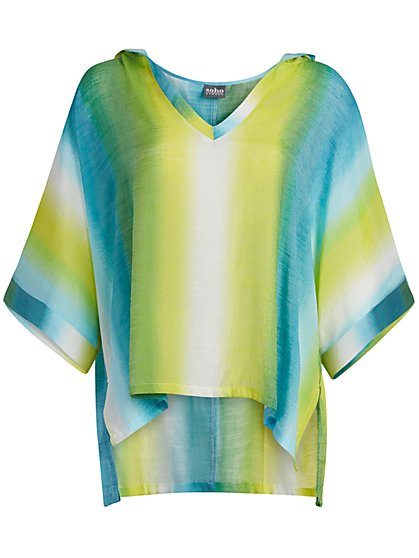 Gauze Caftan Hi-Lo Top - New York & Company