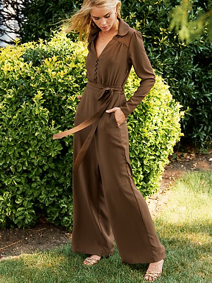 Gem Jumpsuit with Recycled Polyester - New York & Company