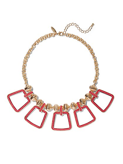 Geo Collar Statement Necklace - New York & Company