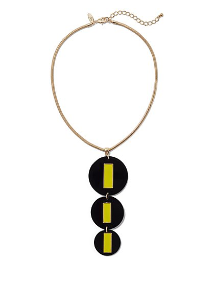 Geometric Pendant Necklace - New York & Company