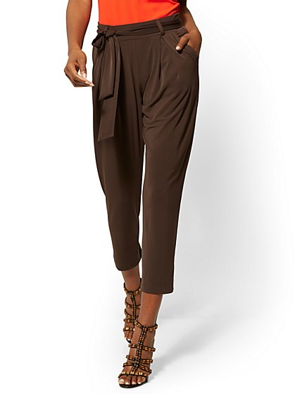 Gigi Knit Slim Ankle Pant - New York & Company