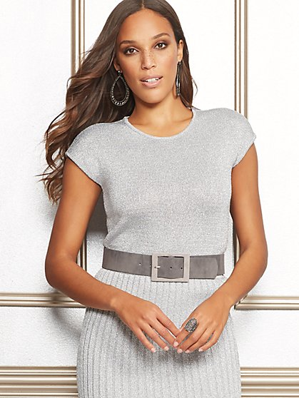 Gina Metallic Sweater - Eva Mendes Collection - New York & Company