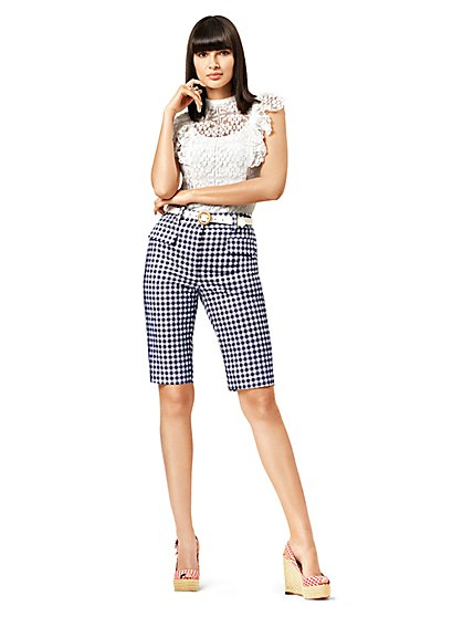 Gingham Bermuda Short - Modern - 7th Avenue - New York & Company