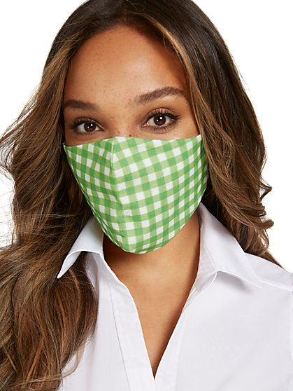 Gingham Face Mask - New York & Company