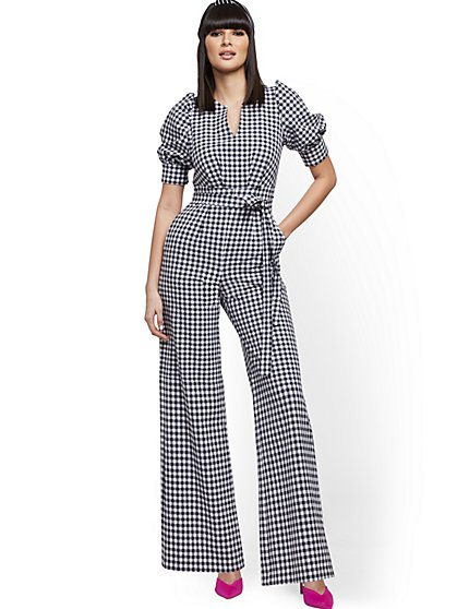 Gingham Jumpsuit - New York & Company