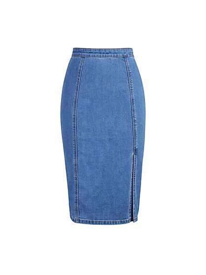 Gita Denim Skirt - Eva Mendes Collection - New York & Company