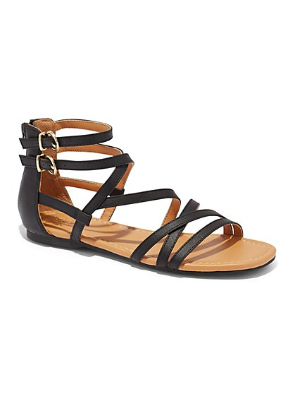 Gladiator Flat Sandal - New York & Company