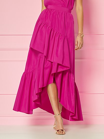 Glinda Ruffled High-Low Skirt - Eva Mendes Fiesta Collection - New York & Company