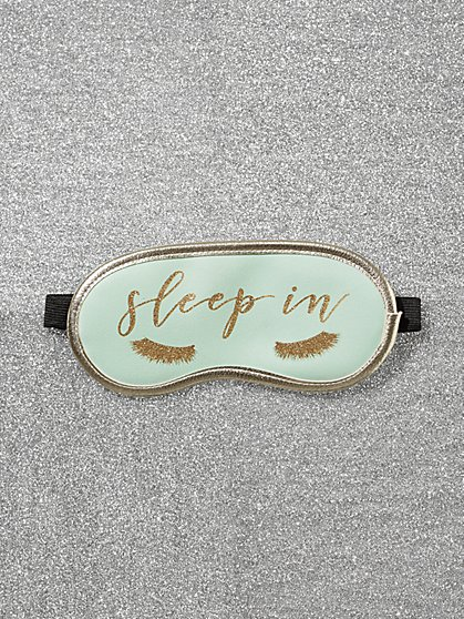 "Glitter-Finish ""Sleep In"" Eye Mask - New York & Company"