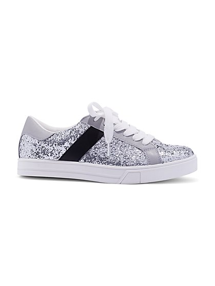 Glitter-Finish Sneaker - New York & Company