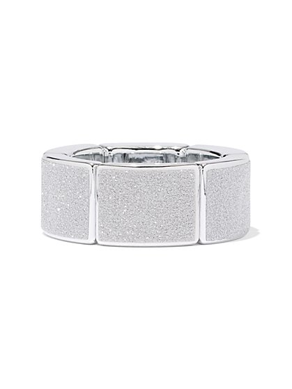 Glitter-Finish Stretch Bracelet - New York & Company