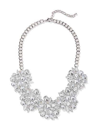 Glittering Cluster Statement Necklace - New York & Company