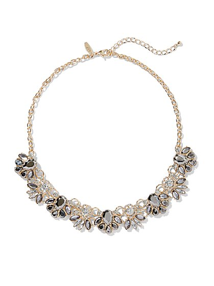 Glittering Goldtone Collar Necklace - New York & Company