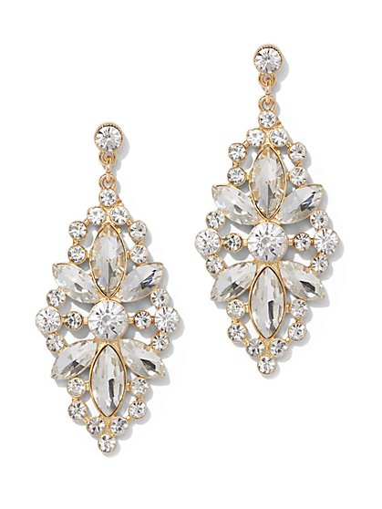 Glittering Goldtone Drop Earring - New York & Company