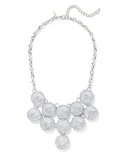 Glittering Silvertone Statement Necklace - New York & Company