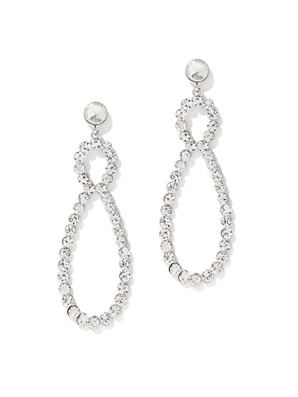 Glittering Teardrop Statement Earring - New York & Company
