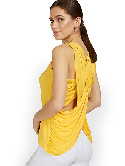 Goddess Crisscross-Back Tank Top - New York & Company