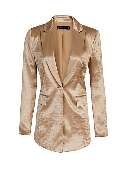 Gold Button-Front Blazer - The NY&C Legacy Collection - New York & Company